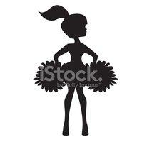 199x200 Cheerleader Silhouette Vector Illustration Stock Vectors
