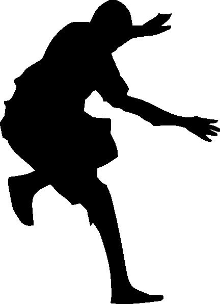 432x596 Man Jumping Silhouette Clip Art