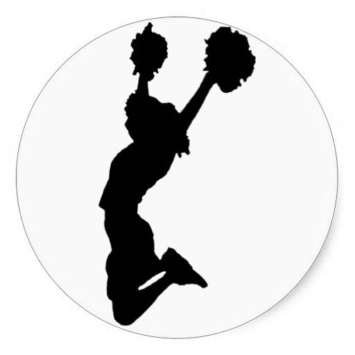 512x512 Foil Cheerleader Silhouette