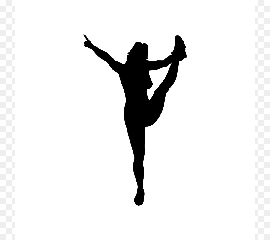 900x800 Silhouette Cheerleading Download Clip Art