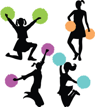 cheerleading silhouette clip art at getdrawings com free for rh getdrawings com
