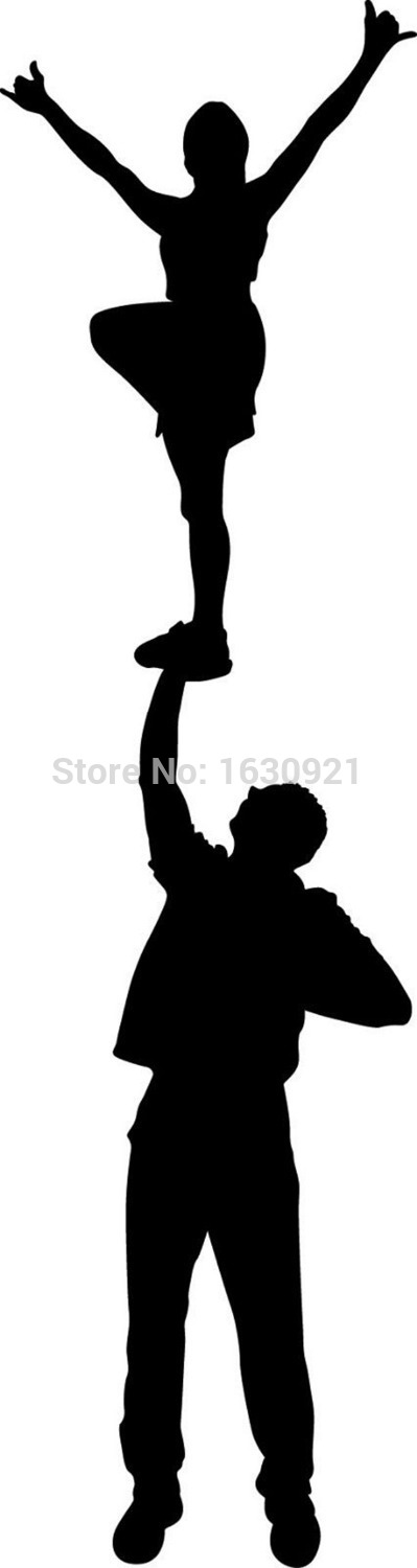Cheerleading Silhouette Clipart