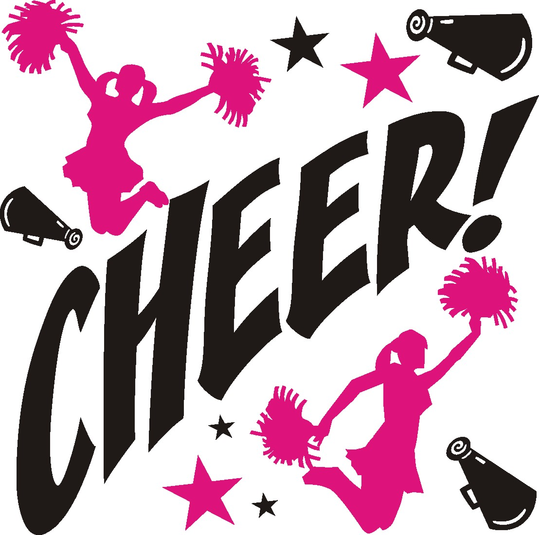 cheerleading silhouette clipart at getdrawings com free for rh getdrawings com clipart images of cheerleaders clip art cheerleader pom poms