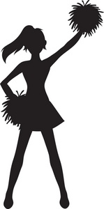 cheerleading silhouette clipart at getdrawings com free for rh getdrawings com cheerleader clipart images free cheerleader clipart black and white free