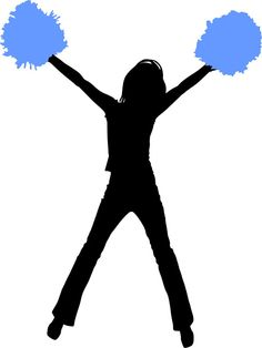 cheerleading silhouette images at getdrawings com free for rh getdrawings com cheerleading clipart free download cheer megaphone clipart free