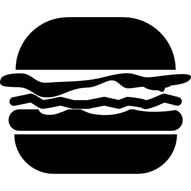 626x626 Hamburger Variant With Cheese, Patty And Lettuce Icons Free Download
