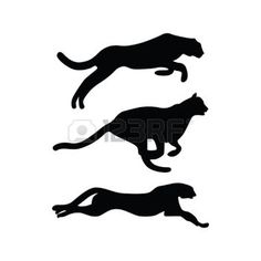 236x236 Running Cheetah Symbol And Silhouettes Vector Program, Symbol