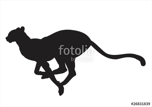 500x354 Cheetah Silhouette Stock Photo And Royalty Free Images On Fotolia