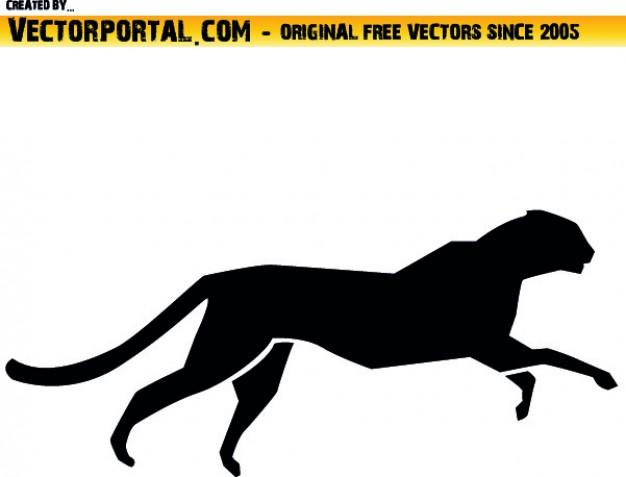 626x477 Cheetah Silhouette Vector Free Download