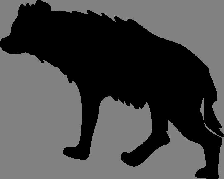 723x577 Simple Hyena Silhouette