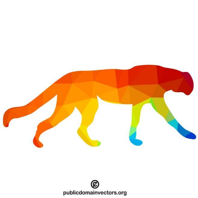 660x660 Cheetah Silhouette Clip Art