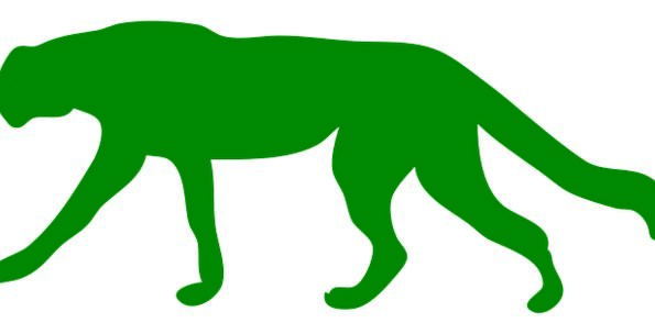 595x304 Cheetah, Outline, Animal, Physical, Silhouette, Hunting, Wild