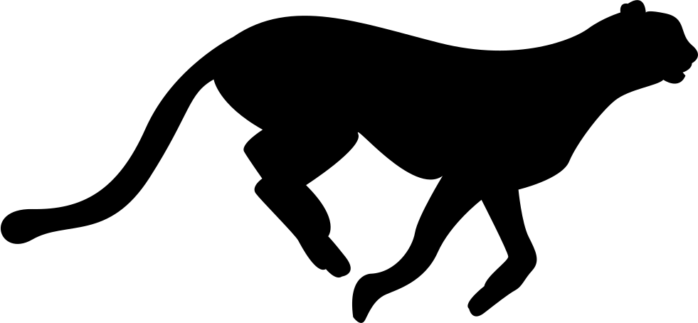 981x454 Cheetah Feline Silhouette Svg Png Icon Free Download ( 74292