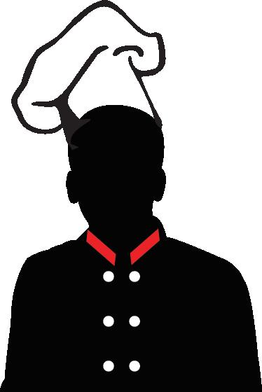 374x560 Silhouette Chef Hat Wall Sticker
