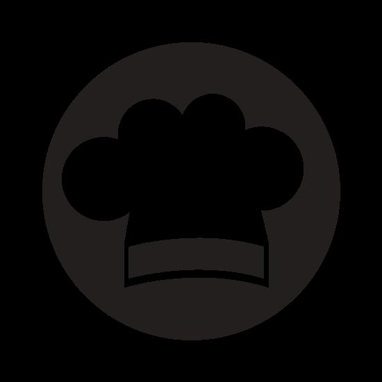 550x550 Chef Hat Silhouette