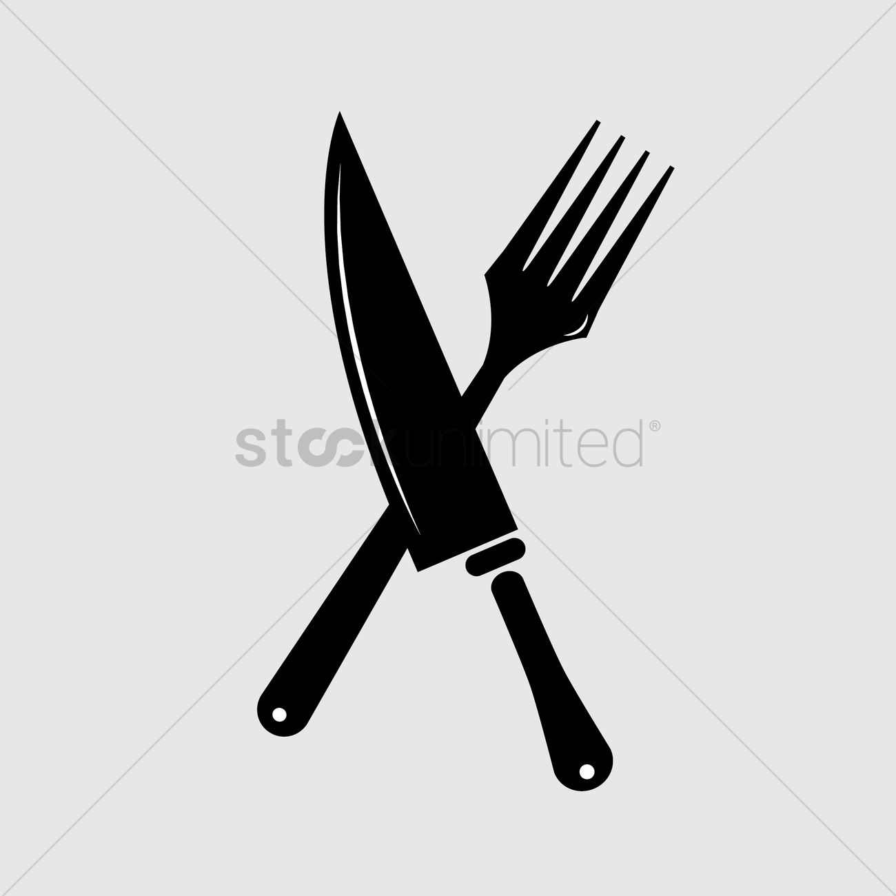 1300x1300 Crossed Butcher Knives Outline Outlines Line Art Cutlery Cutleries