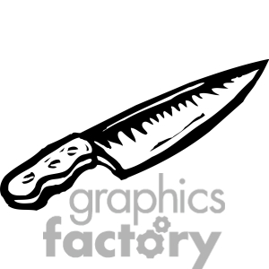 300x300 Knife Black And White Clipart