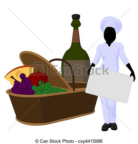 450x470 Female Chefrt Illustration Silhouette. Female Chef