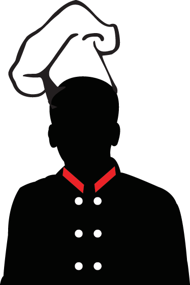 374x560 Silhouette Chef Hat Wall Sticker