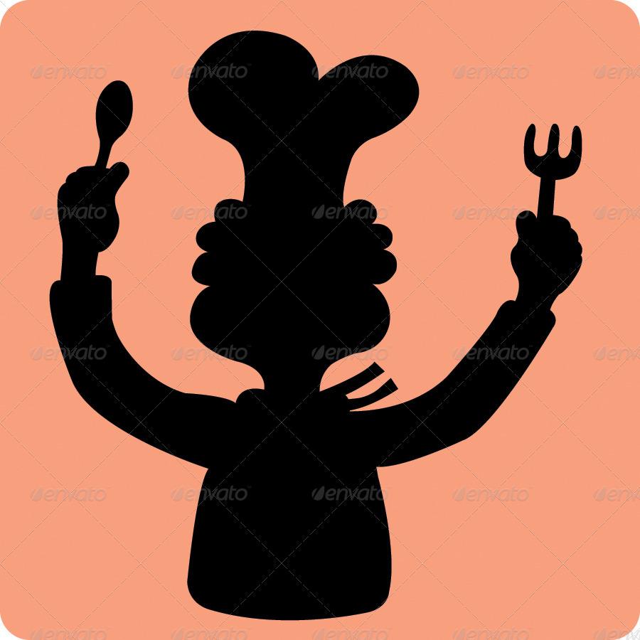 900x900 Chef Silhouette Symbols By Comicvector703 Graphicriver