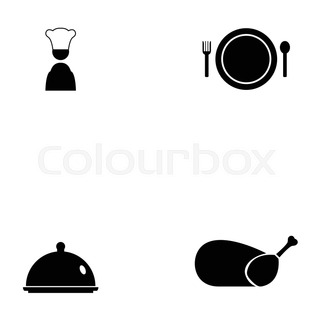 320x320 Icon Chef Food Item, Restaurant Fast Food, Vector,logo Stock