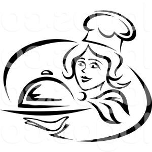 300x300 Black Female Chef Clipart Silhouette Collection