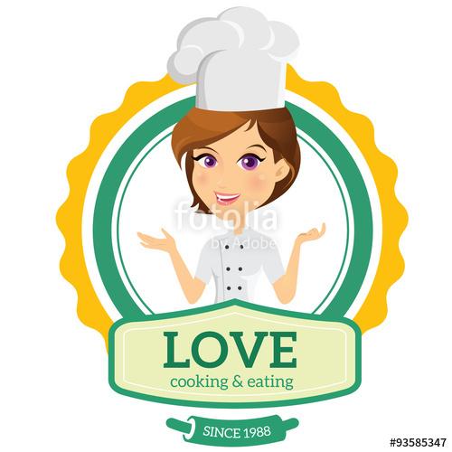 500x500 Cooking Logo,chef Logo,restaurant Logo,women Talking,people