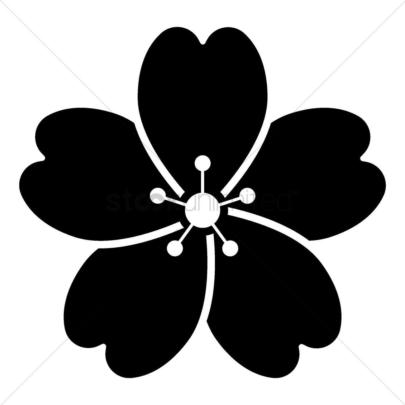 1300x1300 Sakura Blossom Clipart Black And White 3870411