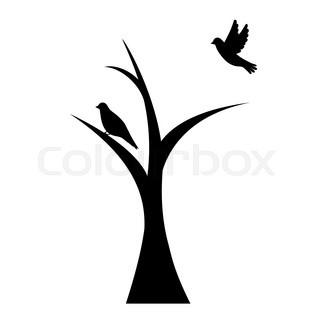 320x320 Tree And Bird Stock Vector Colourbox