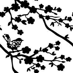 236x236 Ume Blossom Clipart Silhouette