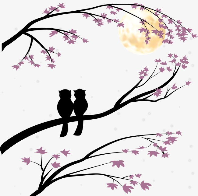 650x644 Couple Bird Silhouette, Black White, Sketch, Love Png