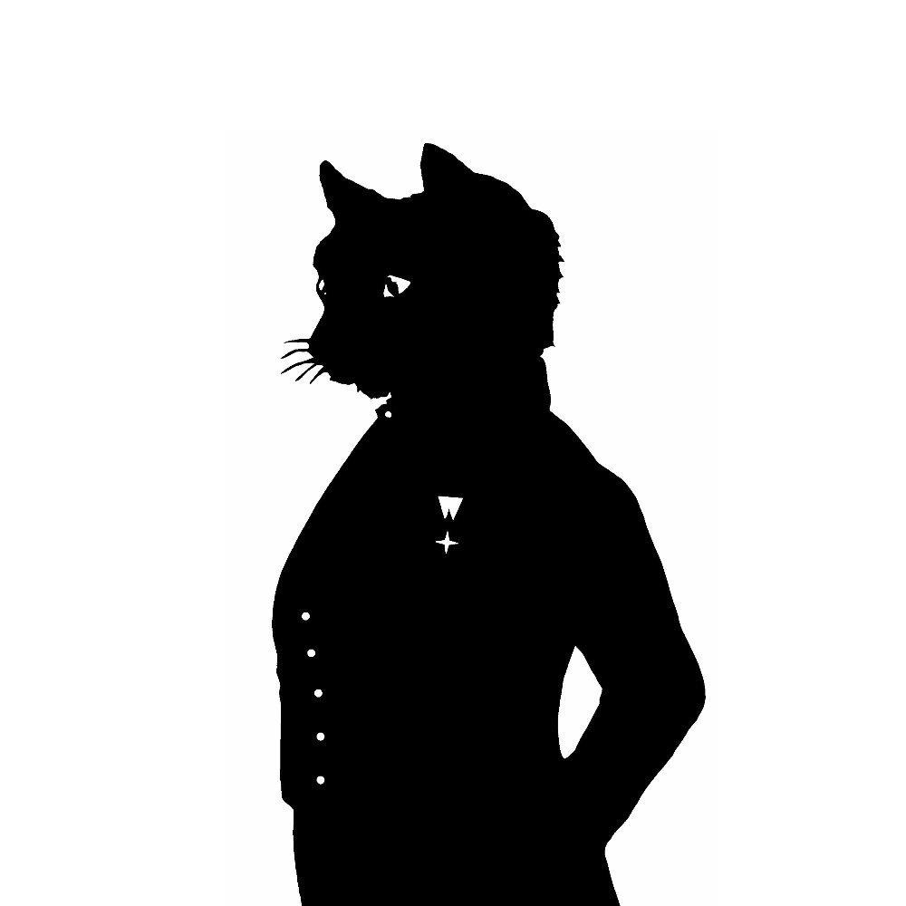 1000x1000 The Cheshire Cat Alice In Wonderland Silhouette Print