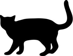 300x230 Cat S Tail Clip Art Black 19406
