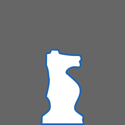 500x500 White Silhouette Staunton Chess Piece Knight Caballo Clipart