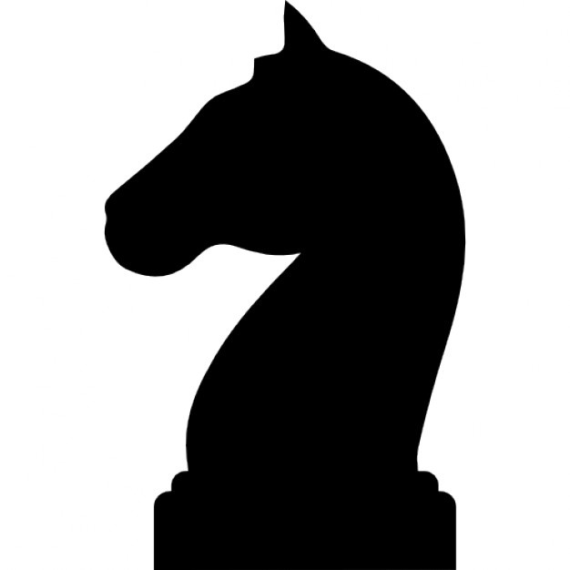 626x626 Horse Black Head Silhouette Of A Chess Piece Icons Free Download