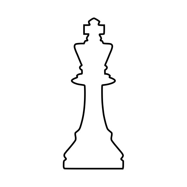630x630 Limited Edition. Exclusive White Silhouette Chess Piece Remix