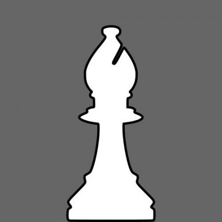 450x450 Silhouette Chess Piece