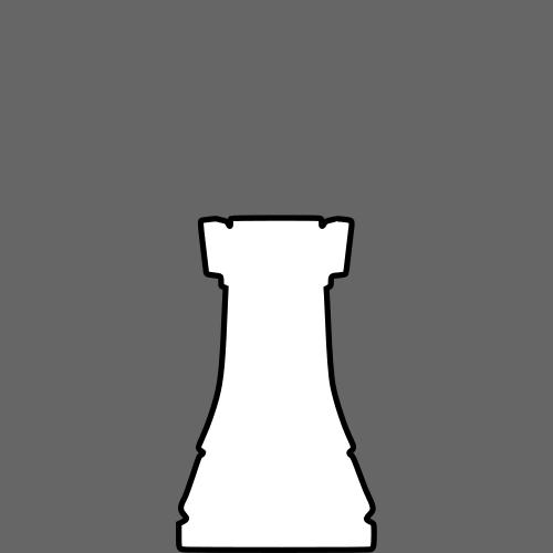 500x500 White Silhouette Chess Piece Remix Rook Torre Clipart