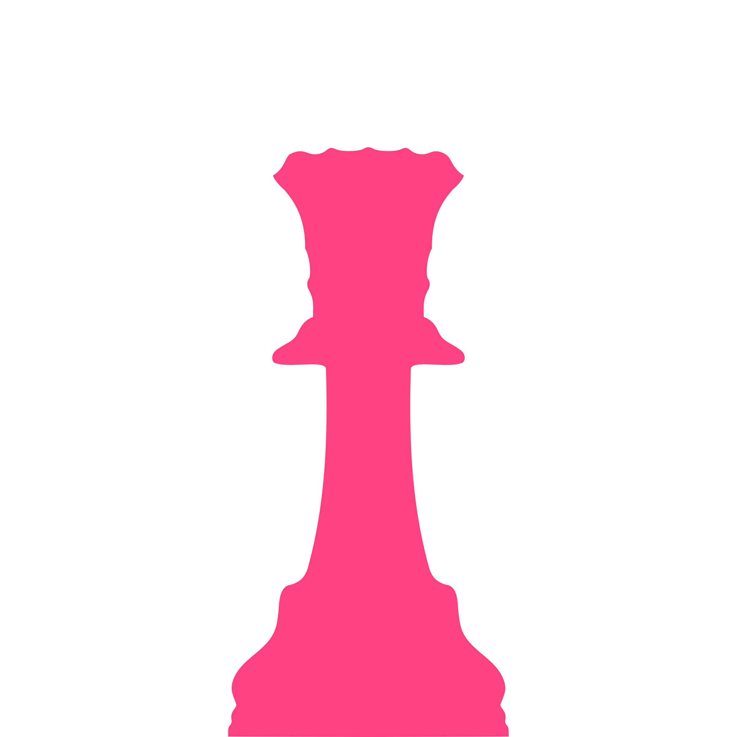 2400x2400 Silhouette Staunton Chess Piece Queen Dama Icons Png