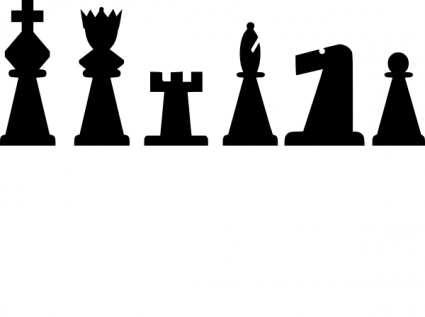 425x317 Black Chess Pieces Set Clip Art Vector, Free Vector Images