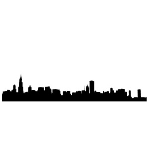 300x300 Chicago City Outline My Wall Skins