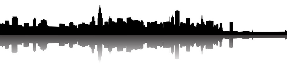 992x240 Chicago Skyline Silhouette Photos, Royalty Free Images, Graphics