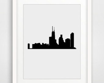 340x270 Chicago Silhouette Etsy