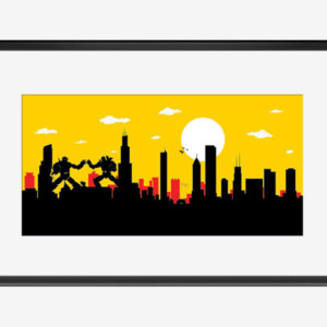 300x300 Chicago Skyline Art Etsy Au