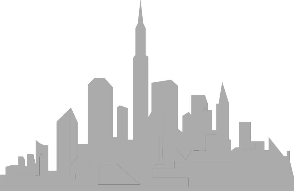 958x624 Skyline Clipart Transparent City