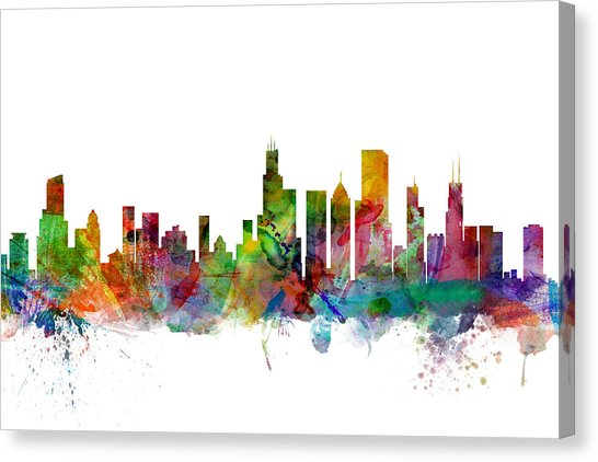 546x422 Chicago Skyline Canvas Prints Fine Art America