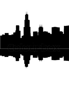 233x320 Abstract City Silhouette On Night Starry Sky Background Stock