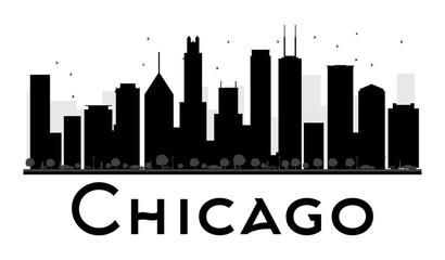 410x240 Chicago Skyline Silhouette Photos, Royalty Free Images, Graphics