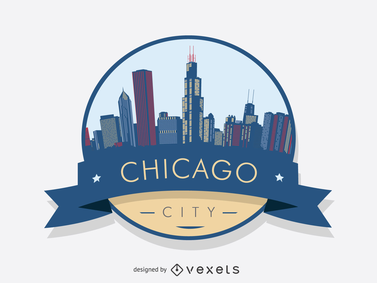 1600x1200 Chicago Skyline Silhouette