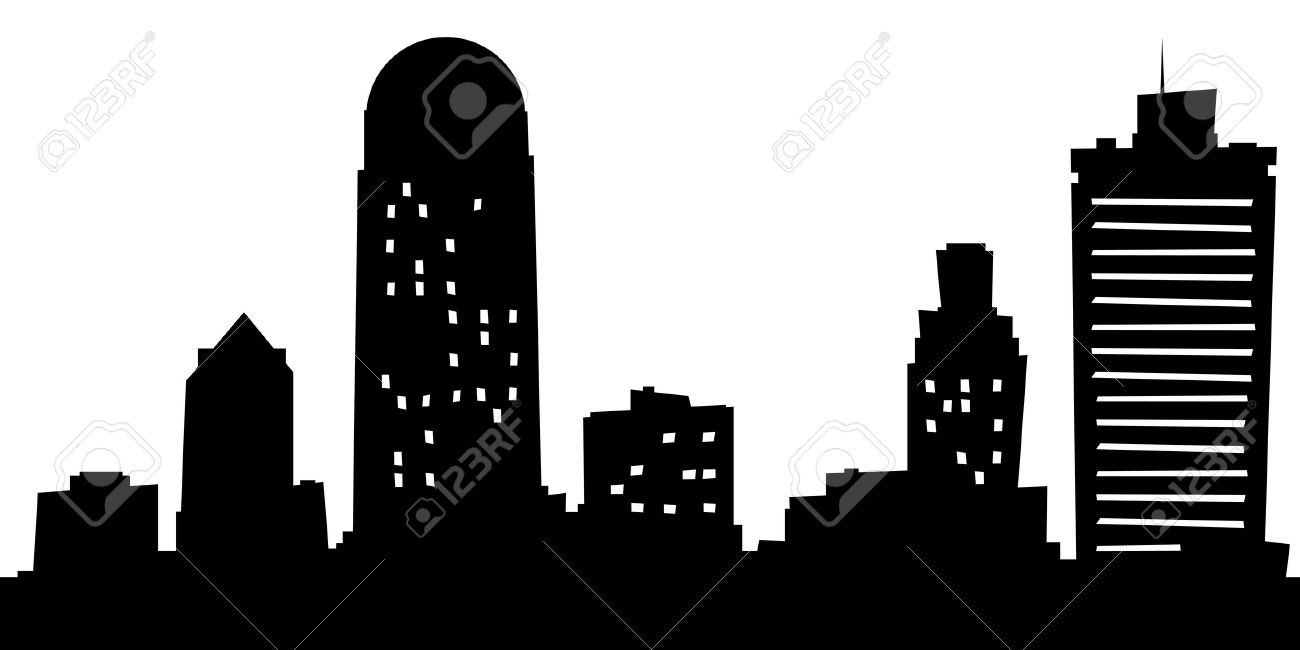 1300x650 Cartoon Skyline Silhouette Of The City Winston Salem North
